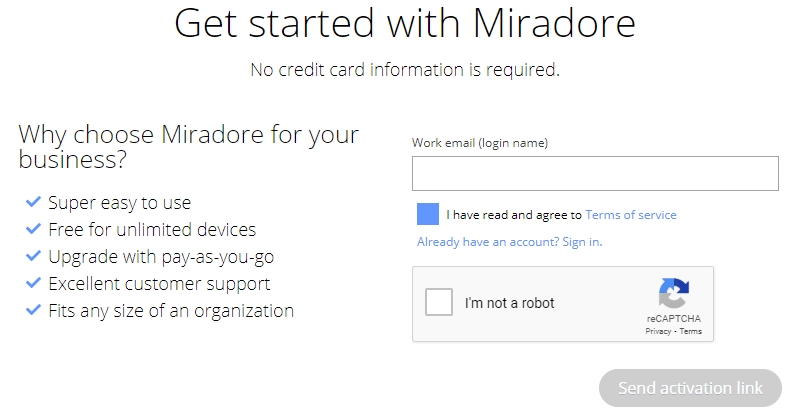 registration requires a valid work email