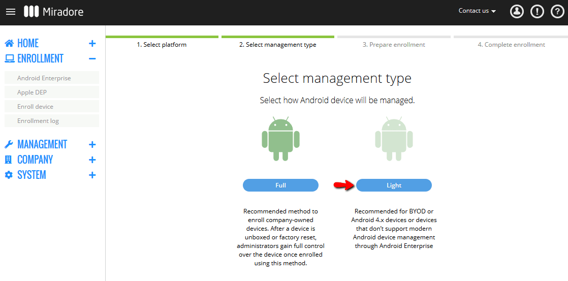 Android Work Profile Enrollment 2