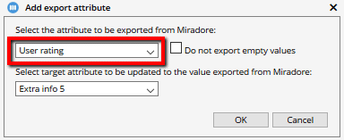 Exporting custom attributes