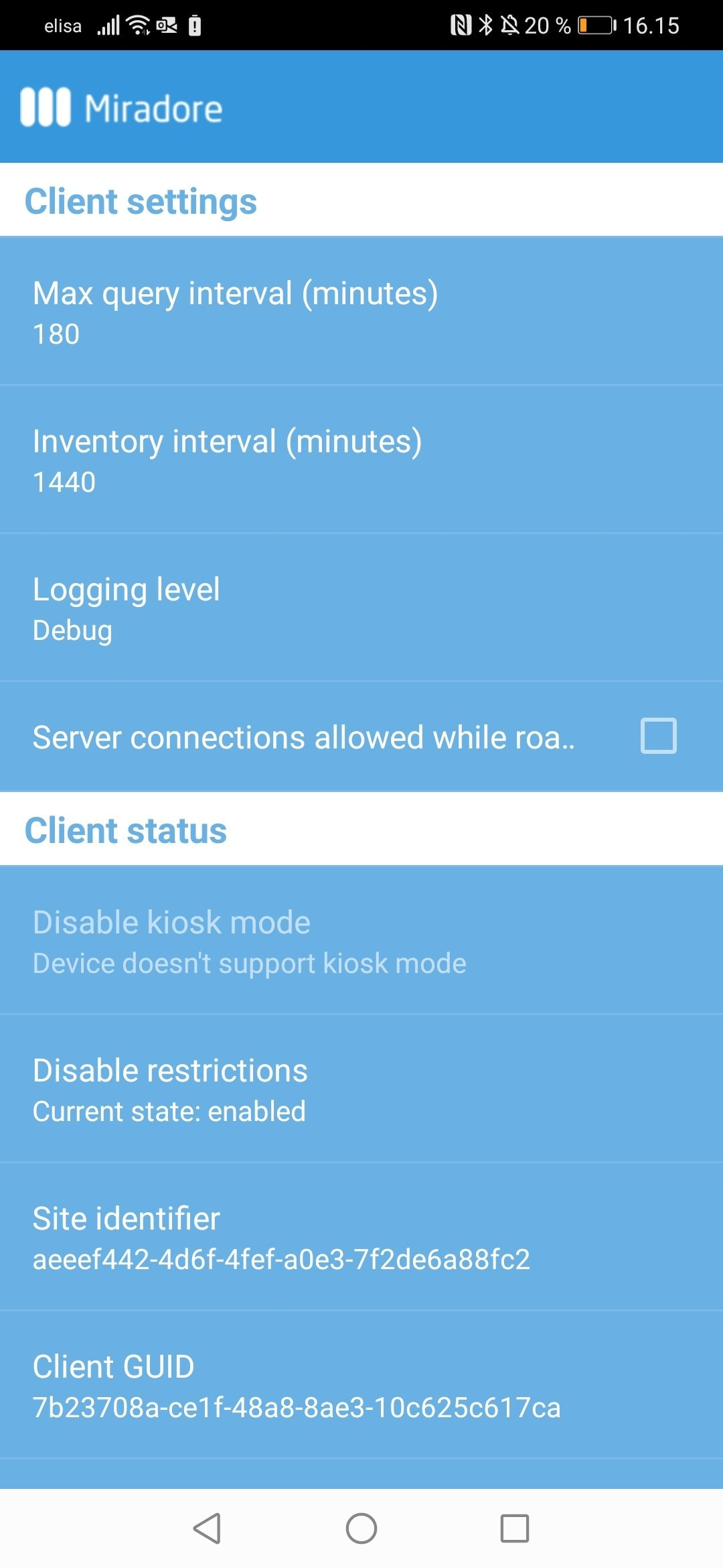 Miradore Client for Android