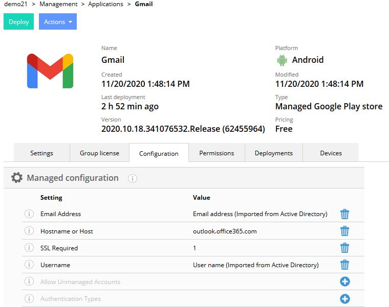How to configure Exchange for Gmail on Android